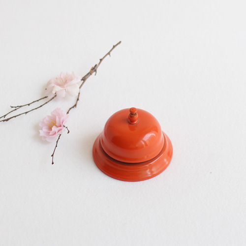 vintage counter bell #orange