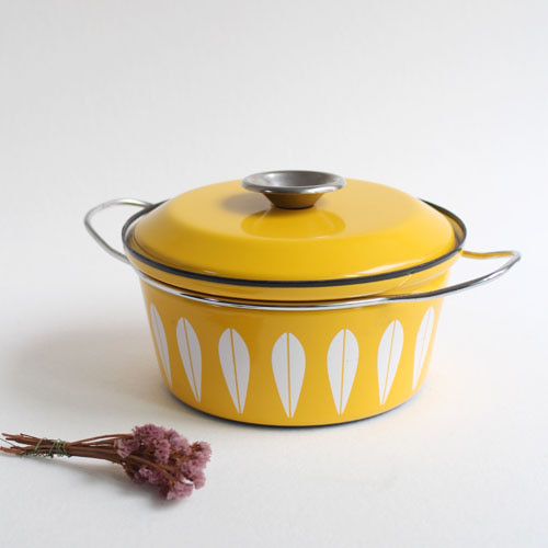 vintage cathrineholm pot (yellow)