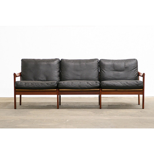 Items Similar to Illum Wikkelso Three-Seat Teak Sofa, Danish, 1960s, Produced by Eilersen