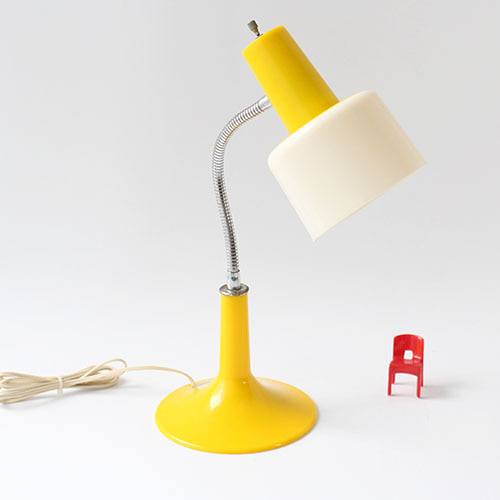 vintage yellow plastic lamp