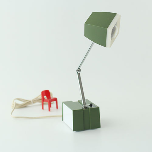 vintage green folding desk lamp