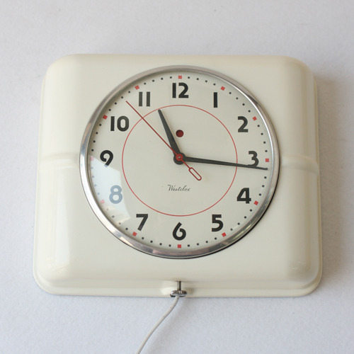 vintage westclox cream wall clock 리빙센스 제품