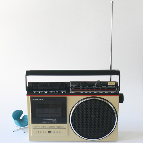 vintage GE cassette player radio #02