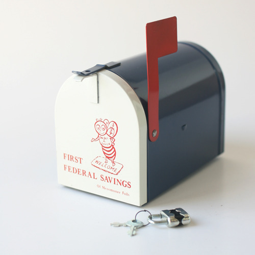 vintage mail box bank
