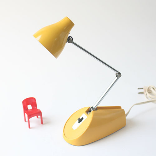 vintage yellow Hamilton Lamp