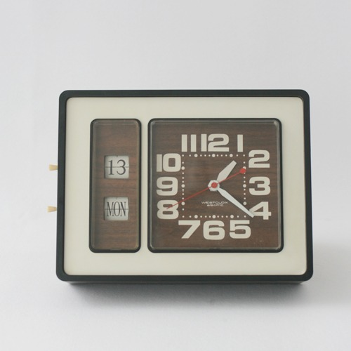 vinage westclox time & date wall clock