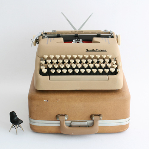 vintage Smith Corona typewriter #beige