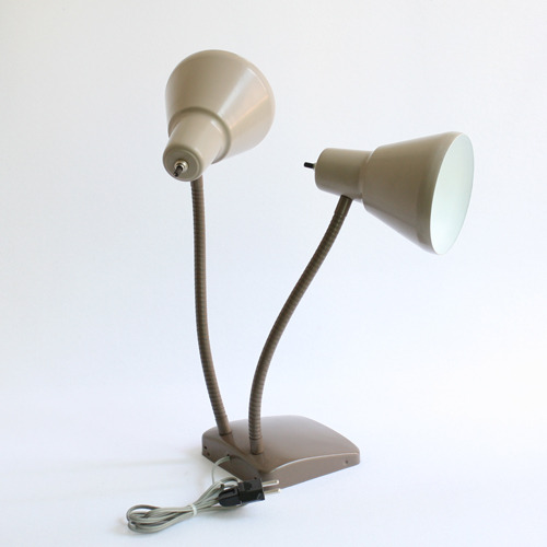 vintage brown 2 cone lamp(재입고)