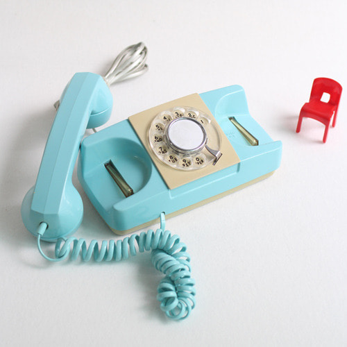 vintage mint blue princess phone