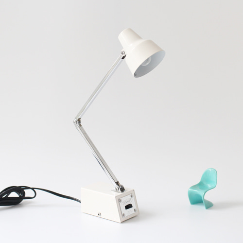 vintage white desk lamp