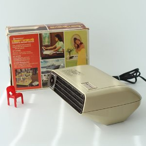 vintage space BEIGE heater&fan