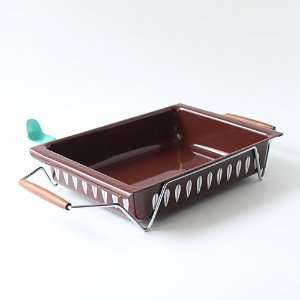 vintage cathrineholm baking pan & hoder