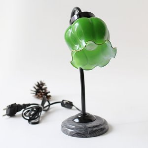 vintage glass table lamp #05