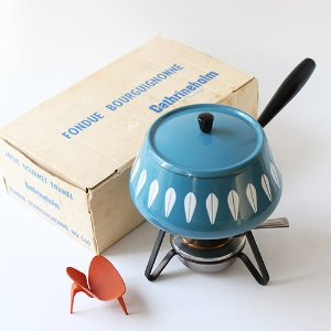 vintage cathrineholm fondue pot set
