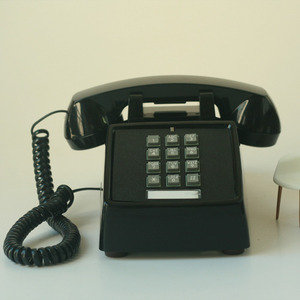 vintage Black desk button phone