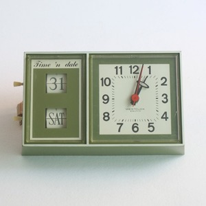 vintage westclox green wall clock (재입고)