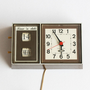 vintage westclox brown wall clock