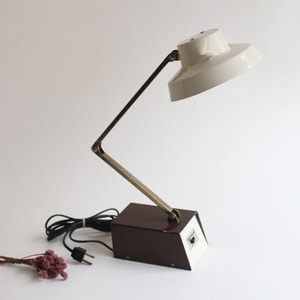 vintage beige & brown desk lamp